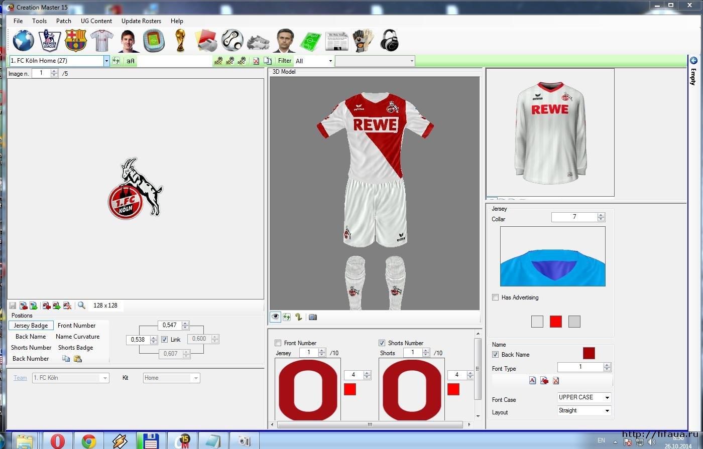 CM 15 Creation Master для FIFA 15. Найдено публикаций: 1. Найдено публикац